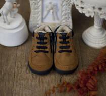 5ee24351 Buciki zimowe dla chłopca chodzącego beżowe 42864