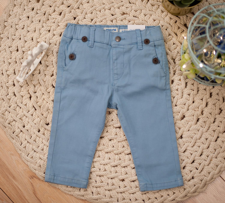 Spodnie błękitne z szelkami 1524