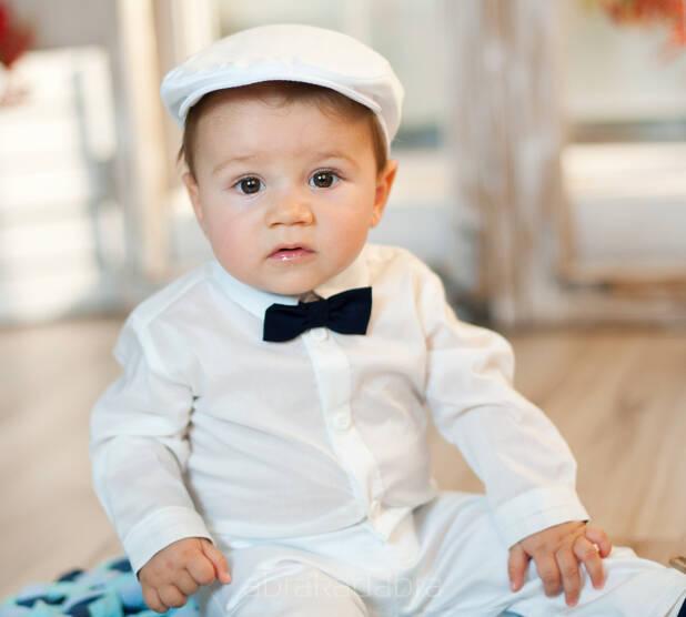 Bawełniana biała koszula na chrzest dla chłopca Sklep  NVJ32