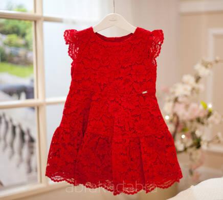 70ec7f8b52 92. 98. 104. Czerwona koronkowa sukienka 3934