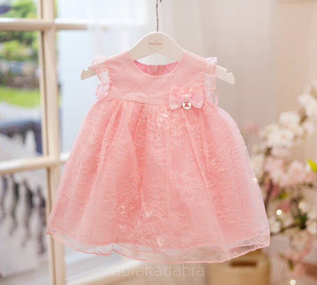 db4ecc7728 Różowa koronkowa sukienka 1909