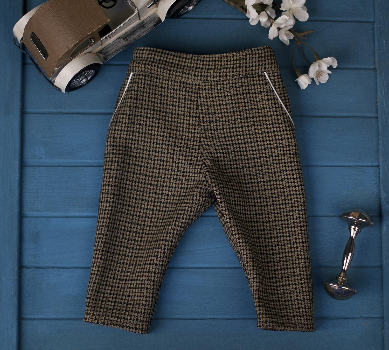 Spodnie w beżową pepitkę Karol