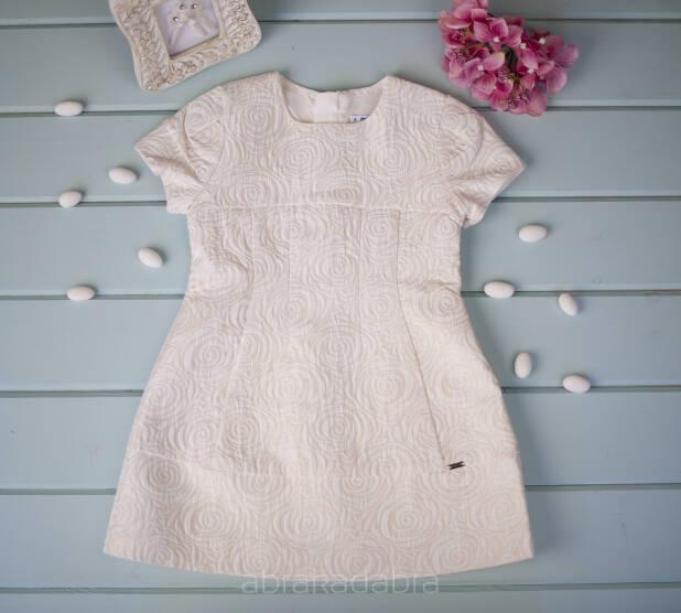 d0b8afb6fe Sukienka dla dziewczynki w złoto-kremowe róże 4944